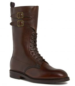 Mens Grain Leather Twin Strap Boots