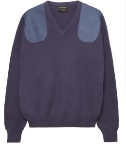 Ladies V Neck Shooting Sweater - Lilac
